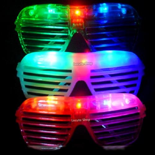 10 lentes led rejilla luminosos luz fiesta batucada boda