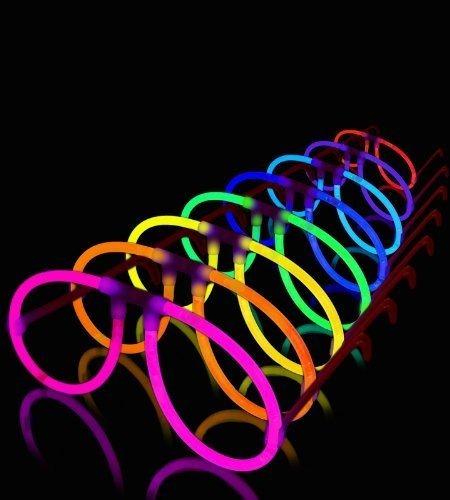 10 lentes neon luminosos fiesta boda xv dj peluca sombrero