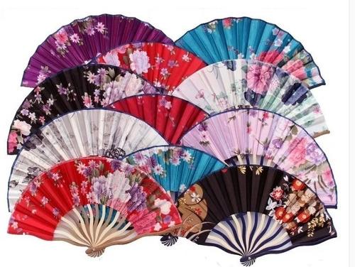10 leques de tecido luxo importado pronta entrega no brasil
