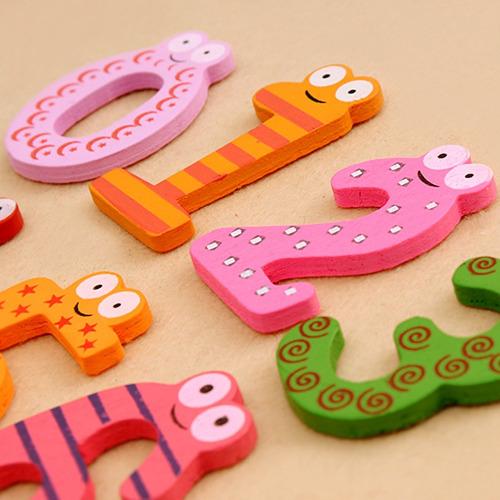 10 letras en madera con imán aprendizaje significativo dmm