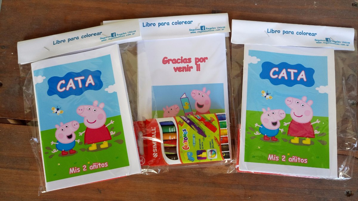 10 Libritos Para Colorear Souvenir Original Cumple Infantil - $ 129 ...