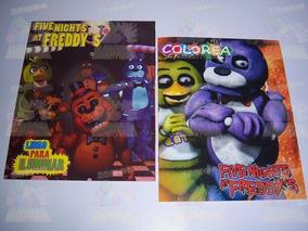 10 Libros Colorear Bolo Regalo Fiesta Five Nights At Freddys