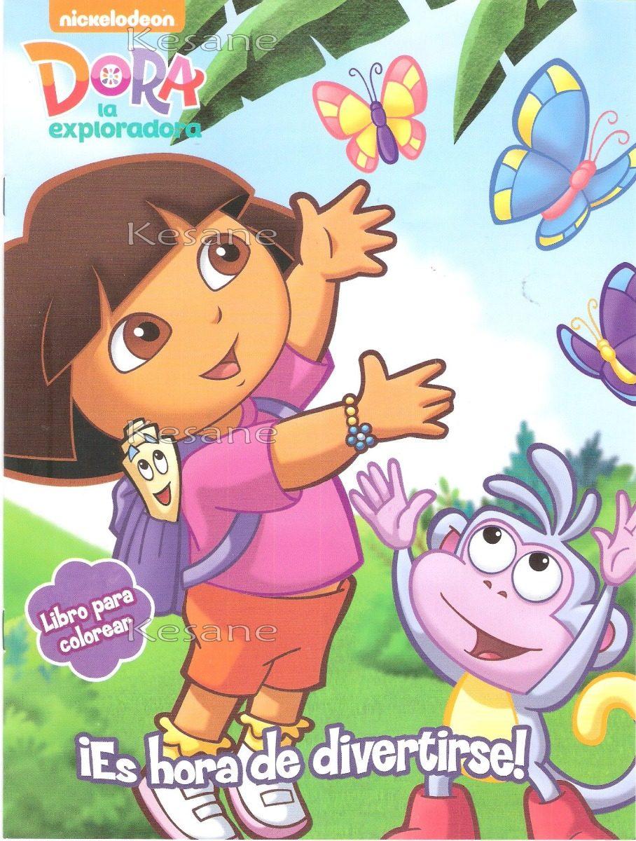 10 Libros Iluminar Dora La Exploradora Bolo Fiestas Colorear ...