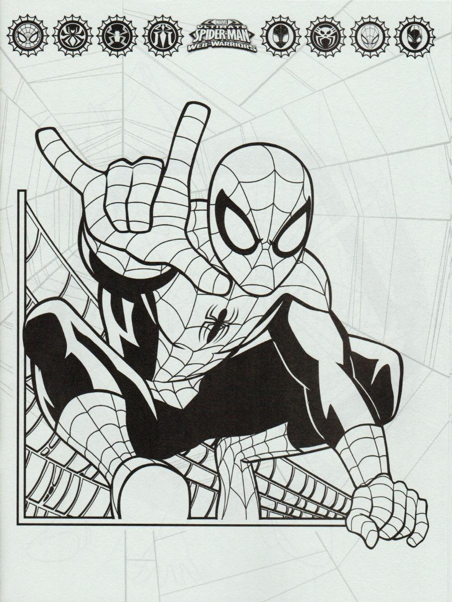 10 Libros Para Colorear Fiestas Infantiles Spiderman