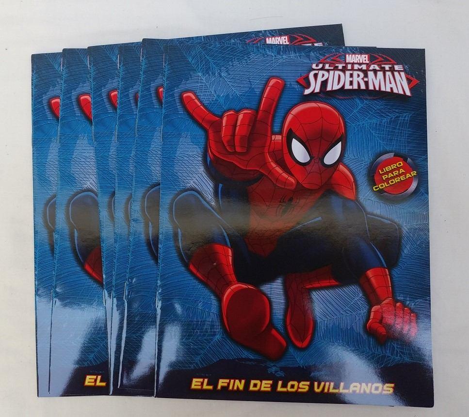 10 Libros Para Colorear Spiderman 16 Pag Fiesta Hombre Araña ...