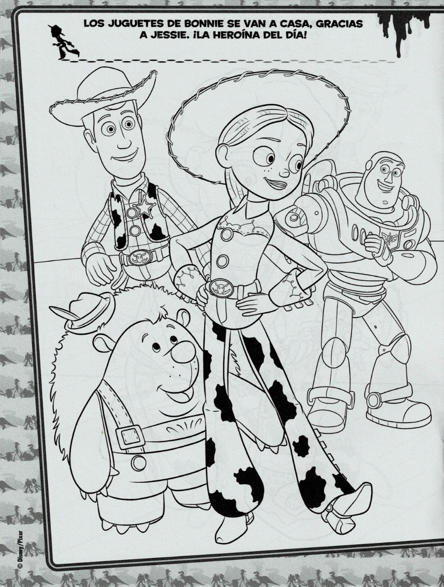 10 Libros Para Colorear Toy Story 4 Fiestas Infantiles