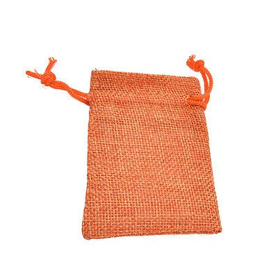 ddba0ad0c 10 Lino Yute Saco Del Hessian Joyería Bolsa... (orange, 1 ...