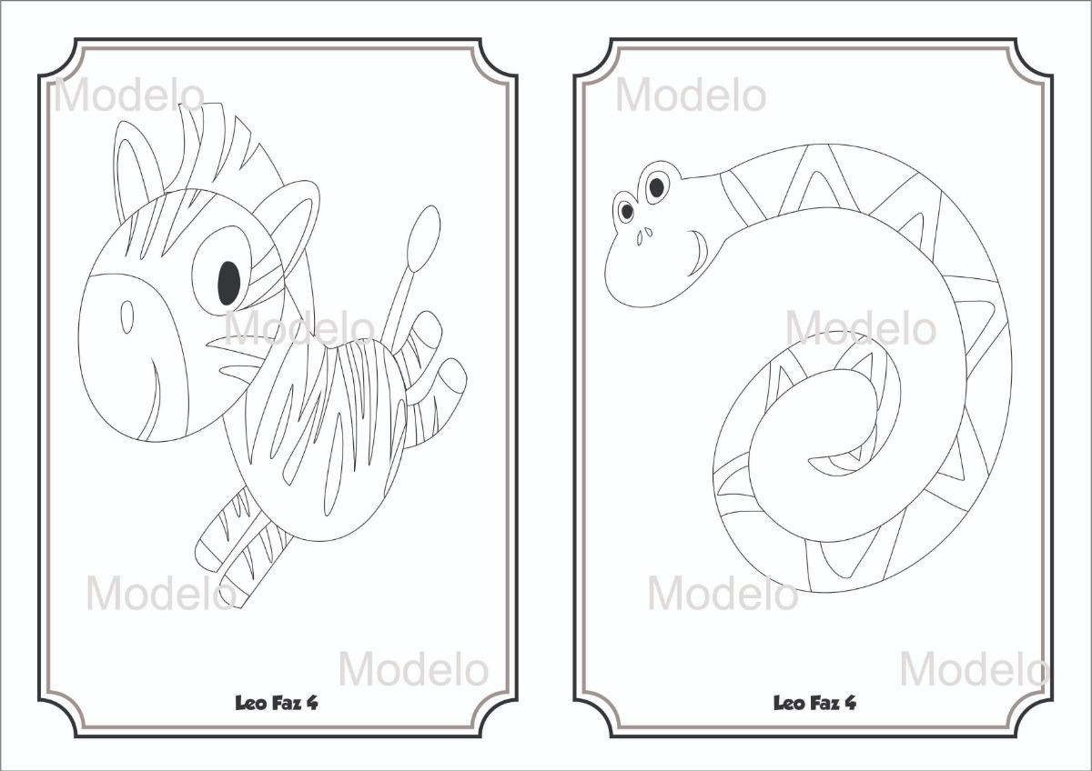 10 Livros De Colorir Animais Do Zoologico Safari R 30 00 Em