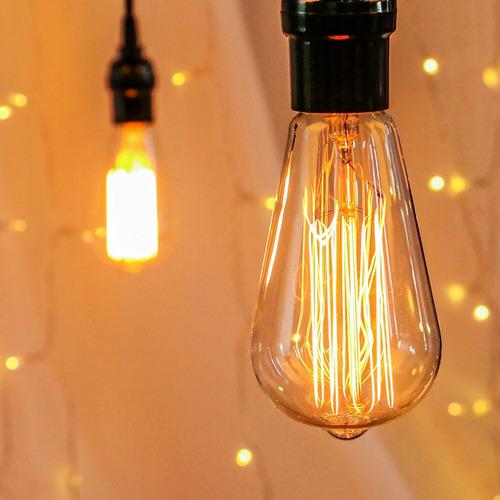 10 lâmpadas filamento  carbono retro vintage 2200k 40w bs064