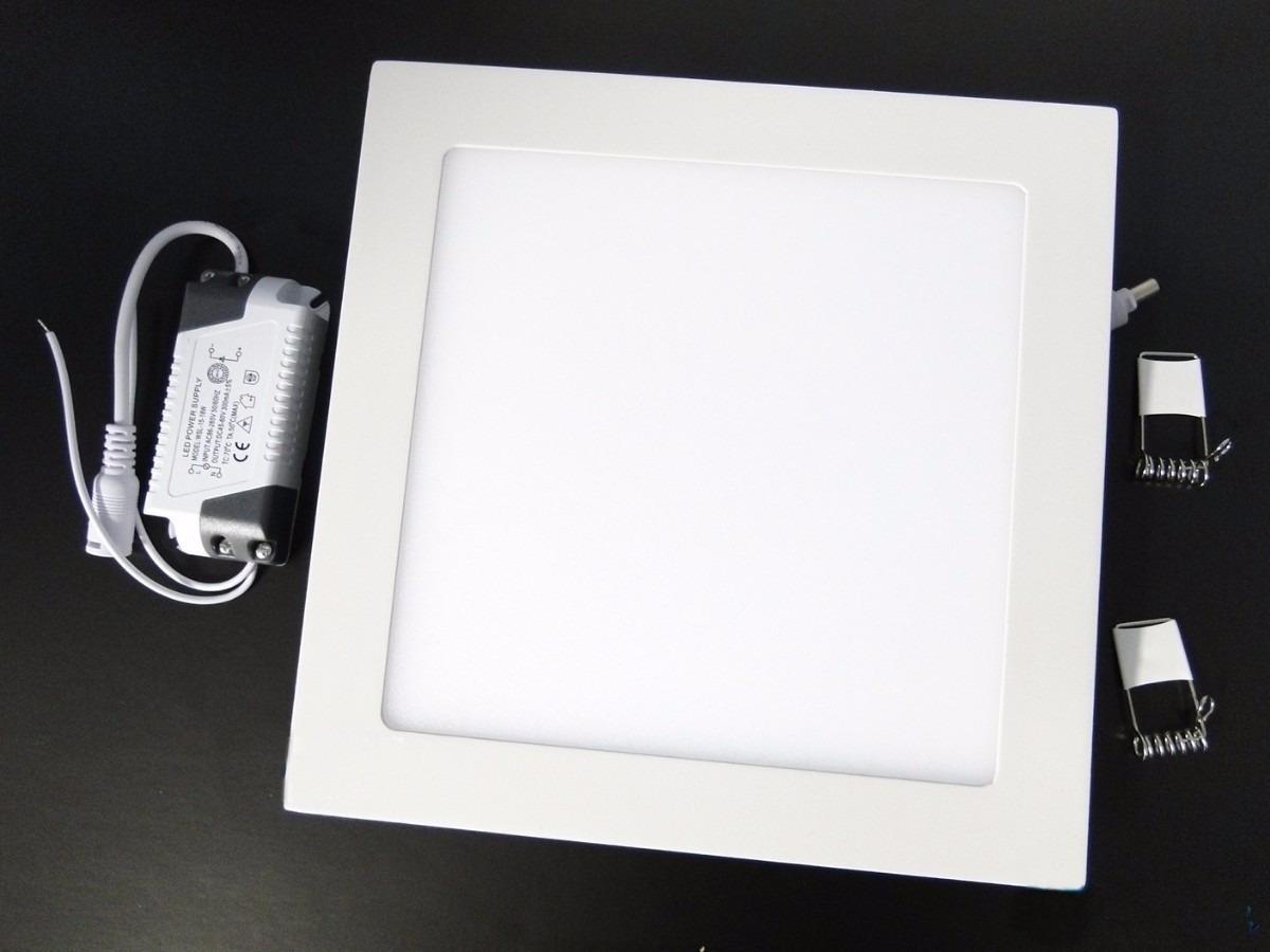 10 luminaria plafon 25w led embutir teto led quadrado for Luminarias de exterior led