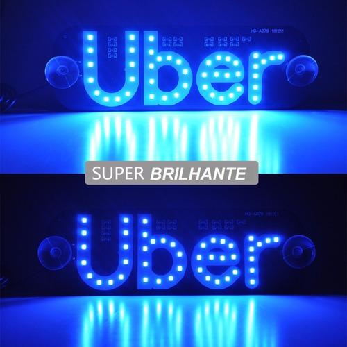 10 luminosos uber led uso interno com usb e interruptor