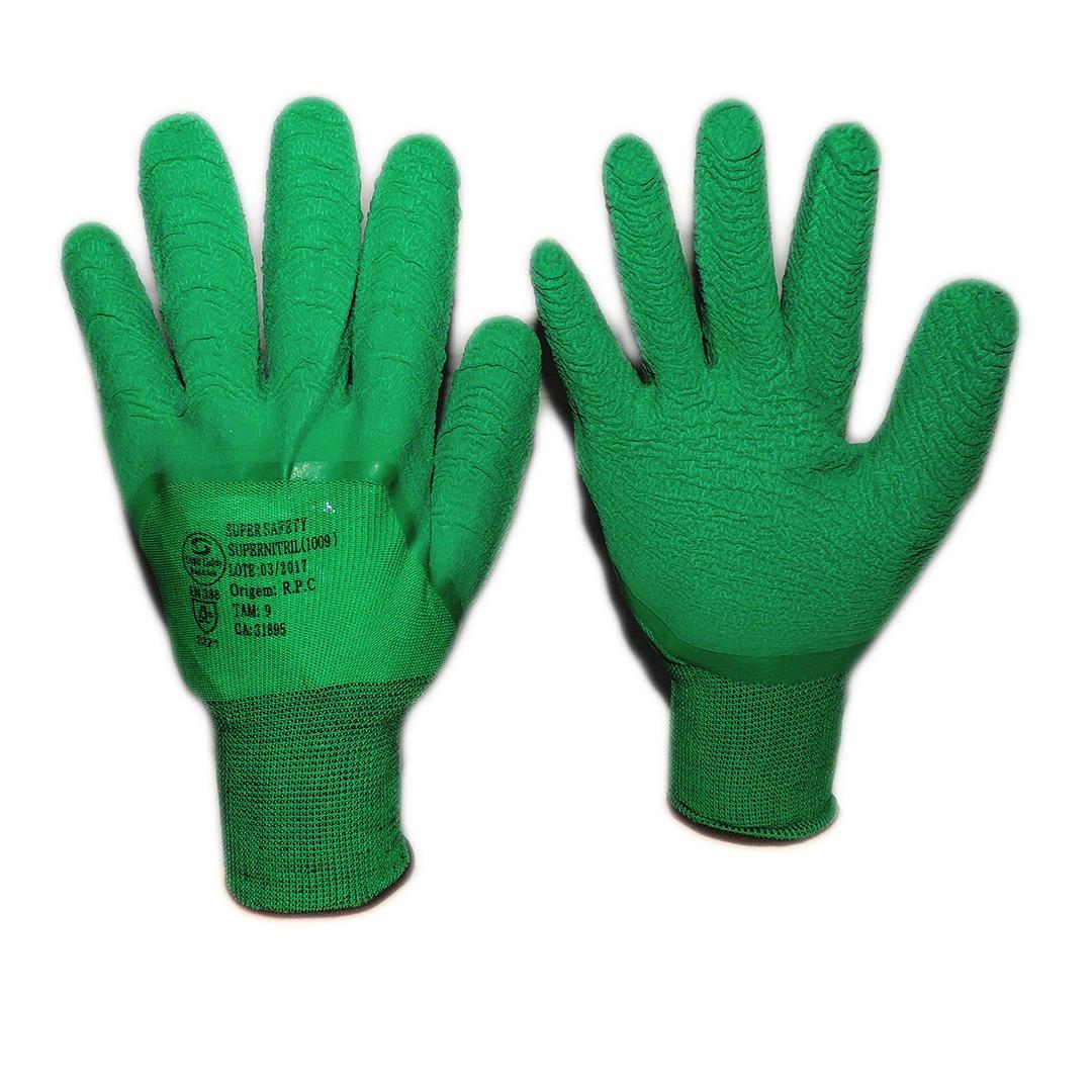 10 Luva Textil Com Borracha Corrugada Ss1009 (10 Pares) - R  69,90 ... b839b1d326