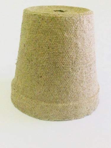 10 macetas biodegradables de turba
