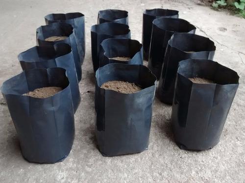 macetas nylon negro de vivero plantas arboles lt