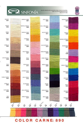 10 madejas de hilaza sinfonía 100% algodón colores a escoger