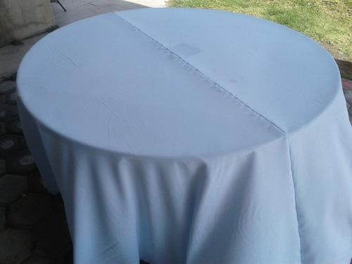 10 mantel redondo 2.90 de diametro. manteleria