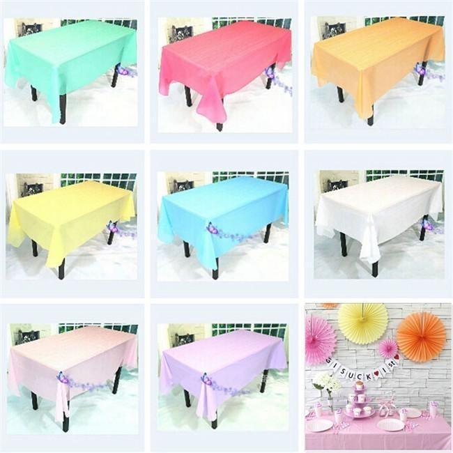 10 manteles de plastico para mesa rectangular colores - Mesas para ninos de plastico ...