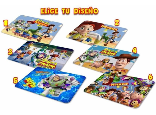10 manteles individuales toy story woody jessie buzz forky