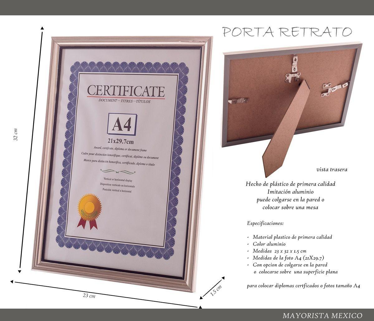 10 Marco Diploma Carta Certificado Foto A4 Graduación Oficin ...