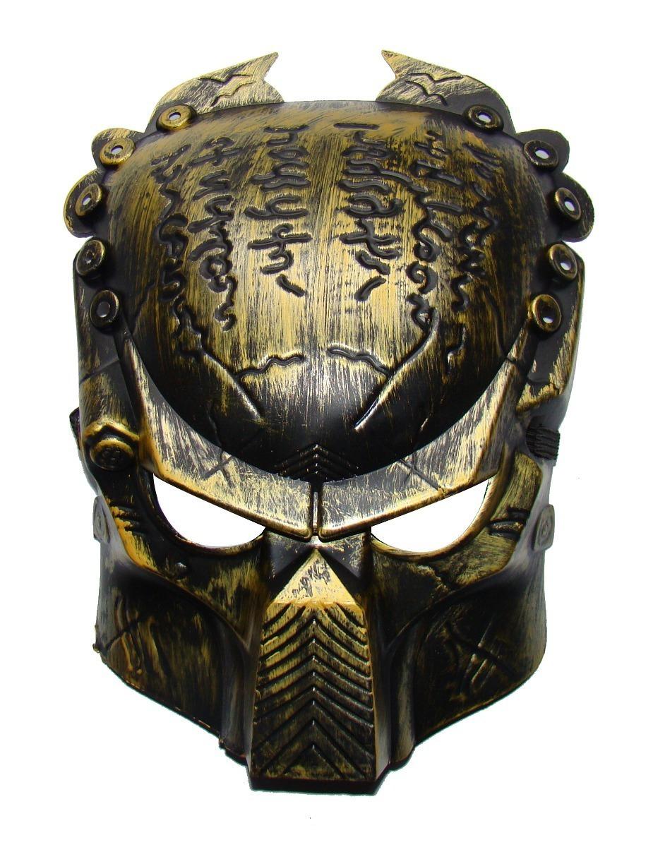 10 Mascara Predador Dourada Fantasia Cosplay - R$ 16,00 em ...