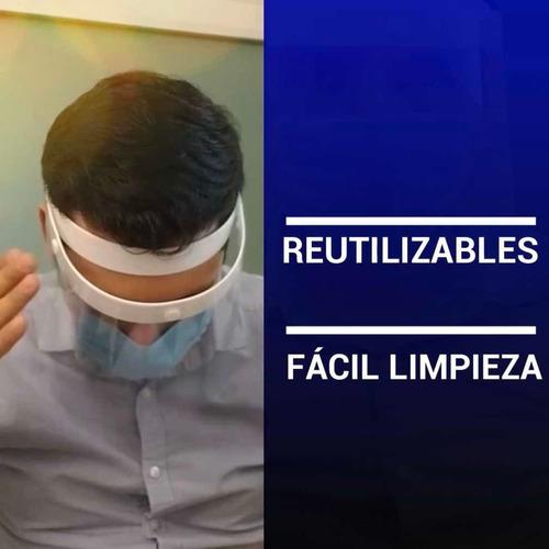 10 máscara protectora facial pet-g