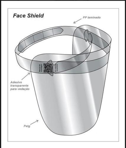 10 máscaras acrilica proteção facial para rosto face shield