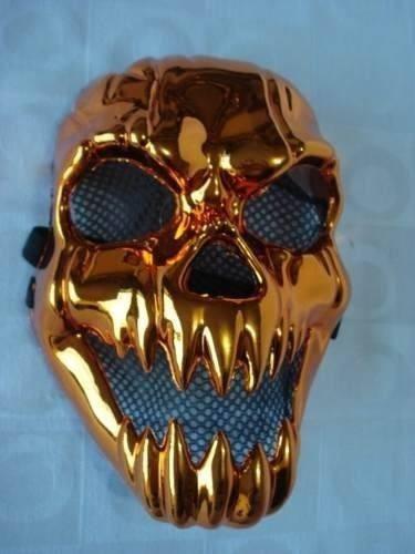10 mascaras haloween red skul abobora espelhada