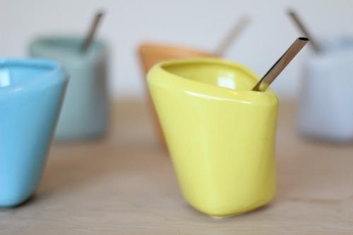 10 mates de cerámica. diseño exclusivo