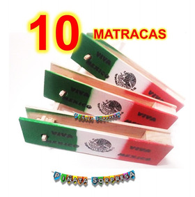 Economico Madera 10 Mexican Juguete Fiesta Tradicion Matraca ymNwvn0O8
