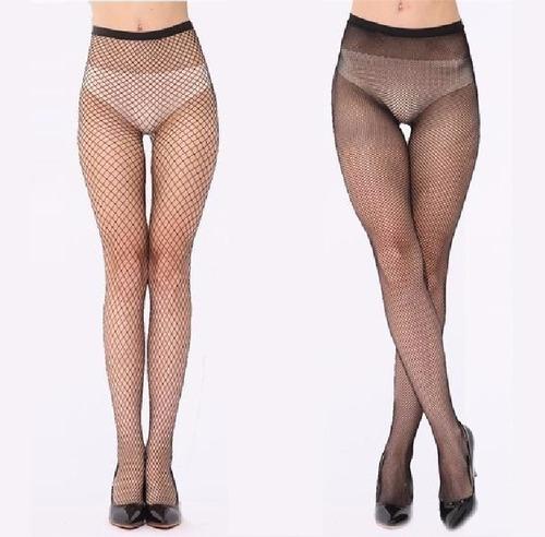 10 meia calça arrastão cós alto preta fashion super sexy kit