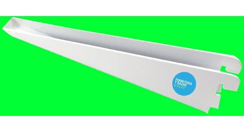 10 ménsula metalica 27 cm reforzada d/ enganche estanteria