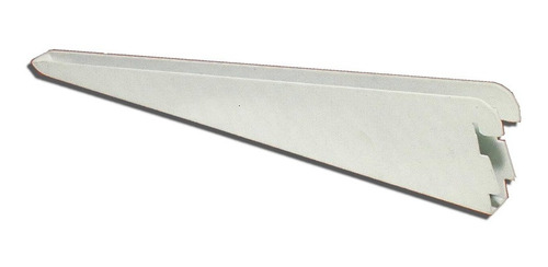 10 mensula metalica 27cm blanca refor d/ enganche estanteria