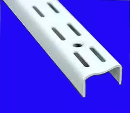 10 mensula reforzada 27cm doble enganche p/ riel estanteria