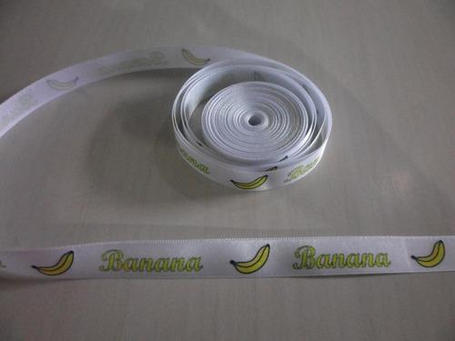 10 metros de fitas de cetim personalizadas de 1cm