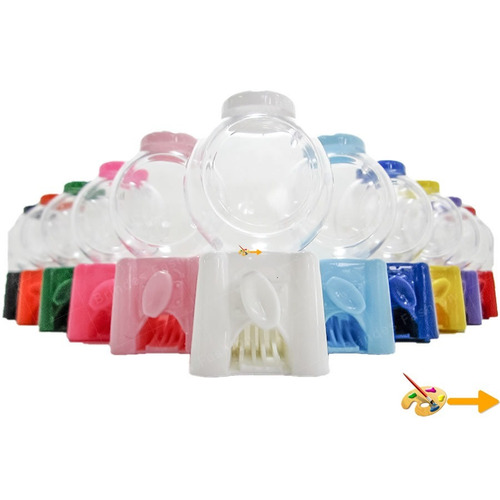 10 mini baleiro candy machine p/ personalizar doce adesivo