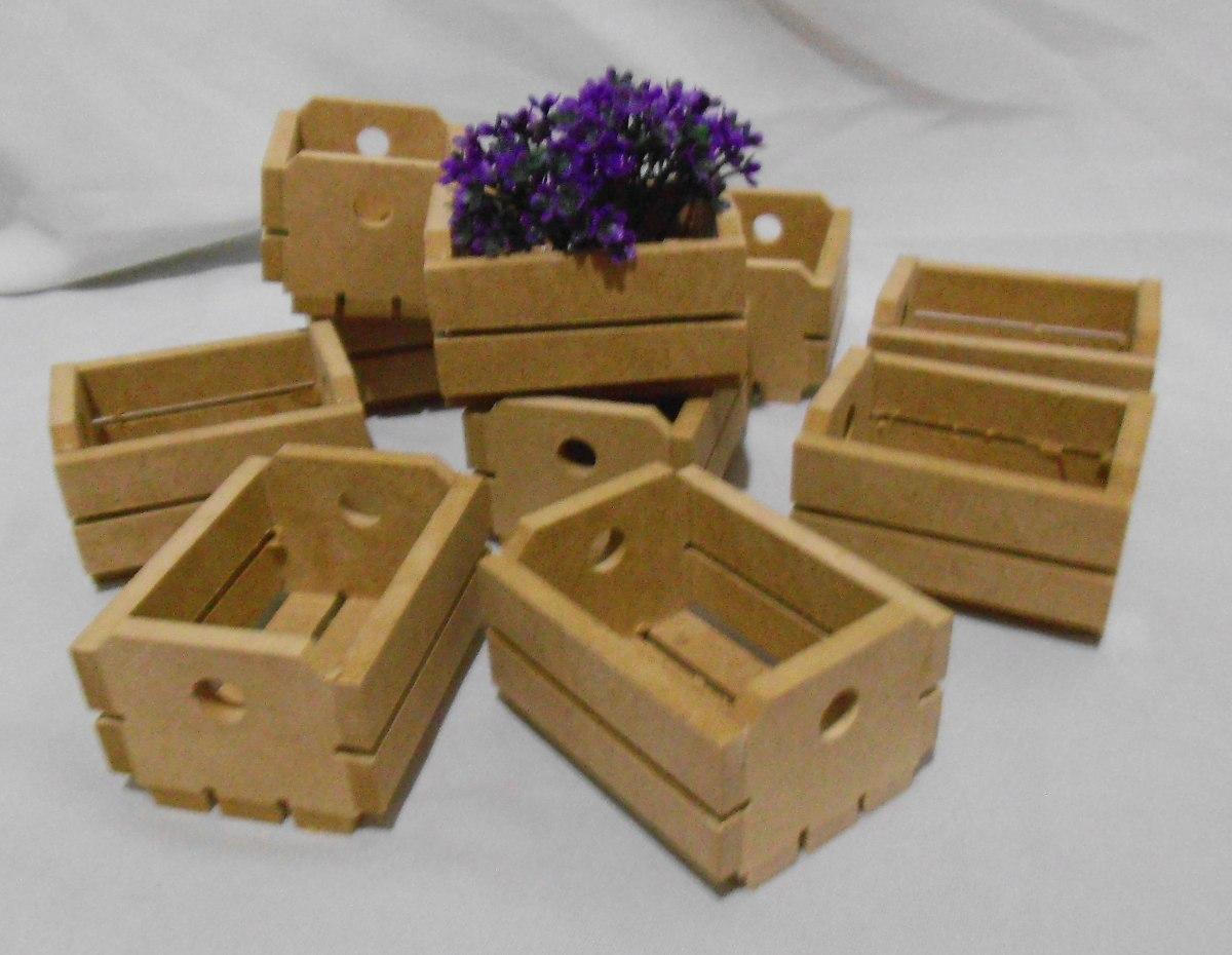 10 Mini Caixote De Feira Mdf Para Decoração  R$ 49,00 em Mercado Livre -> Decoracao De Banheiro Com Caixote De Feira