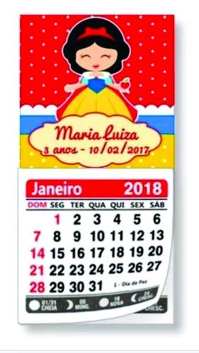 10 mini calendários personalizado ímã geladeira jan/dez 2018
