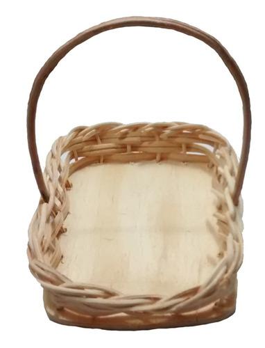 10 mini cesta lembrancinha cipó palha bambu ref.252 13x09x03