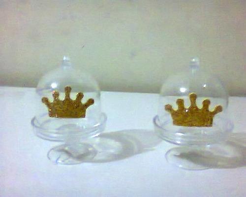 10 mini cúpulas com aplique coroa