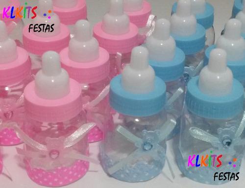10 mini mamadeira lembrancinha cha de bebe maternidade