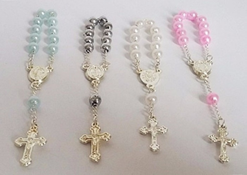 10 mini terço para lembrancinhas religiosa - tercinho