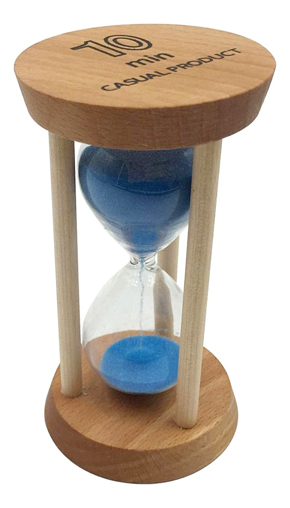 10 Minute Wooden Frame Sand Egg Timer Hourglass Kitchen Cook