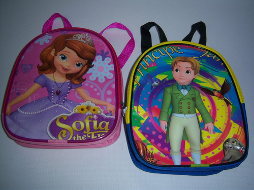 10 mochilas dulceros bolos regalos fiesta princesa sofia