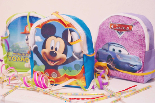 10 mochilas dulceros personalizadas bolos fiestas