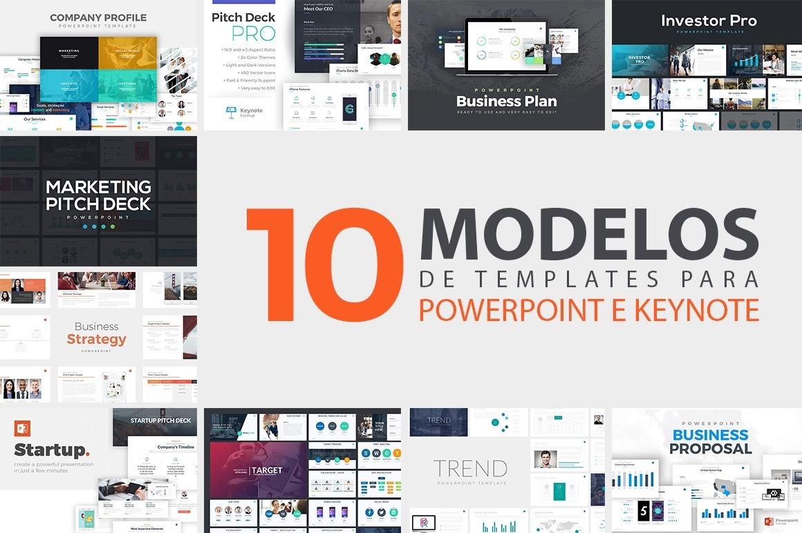 10 modelos de templates slides para powerpoint e keynote r 16 00 em mercado livre. Black Bedroom Furniture Sets. Home Design Ideas