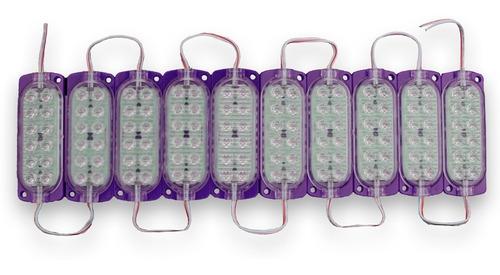 10 módulos 12 led varios colores