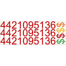 10 Números 4 Signos De Pesos + Logo Whats - Para Vender Auto