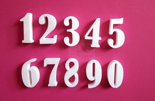 10 números de mesa 10 cm x 2 cm corporeas polyfan tunombre
