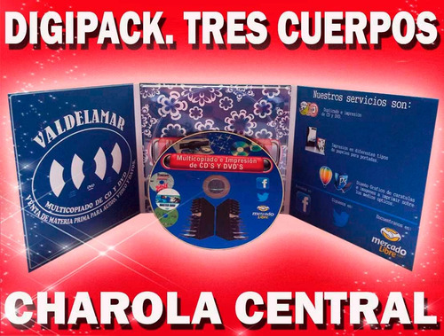 10 pack digipack tres cuerpos charola central cd dvd bd