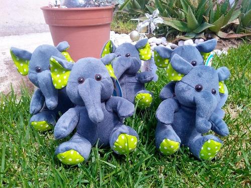 10 pack elefantes de peluche para eventos 16 cms
